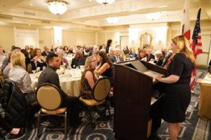 Jenny Staelin presenting Jennifer Perlmutter Spark the Arts Award